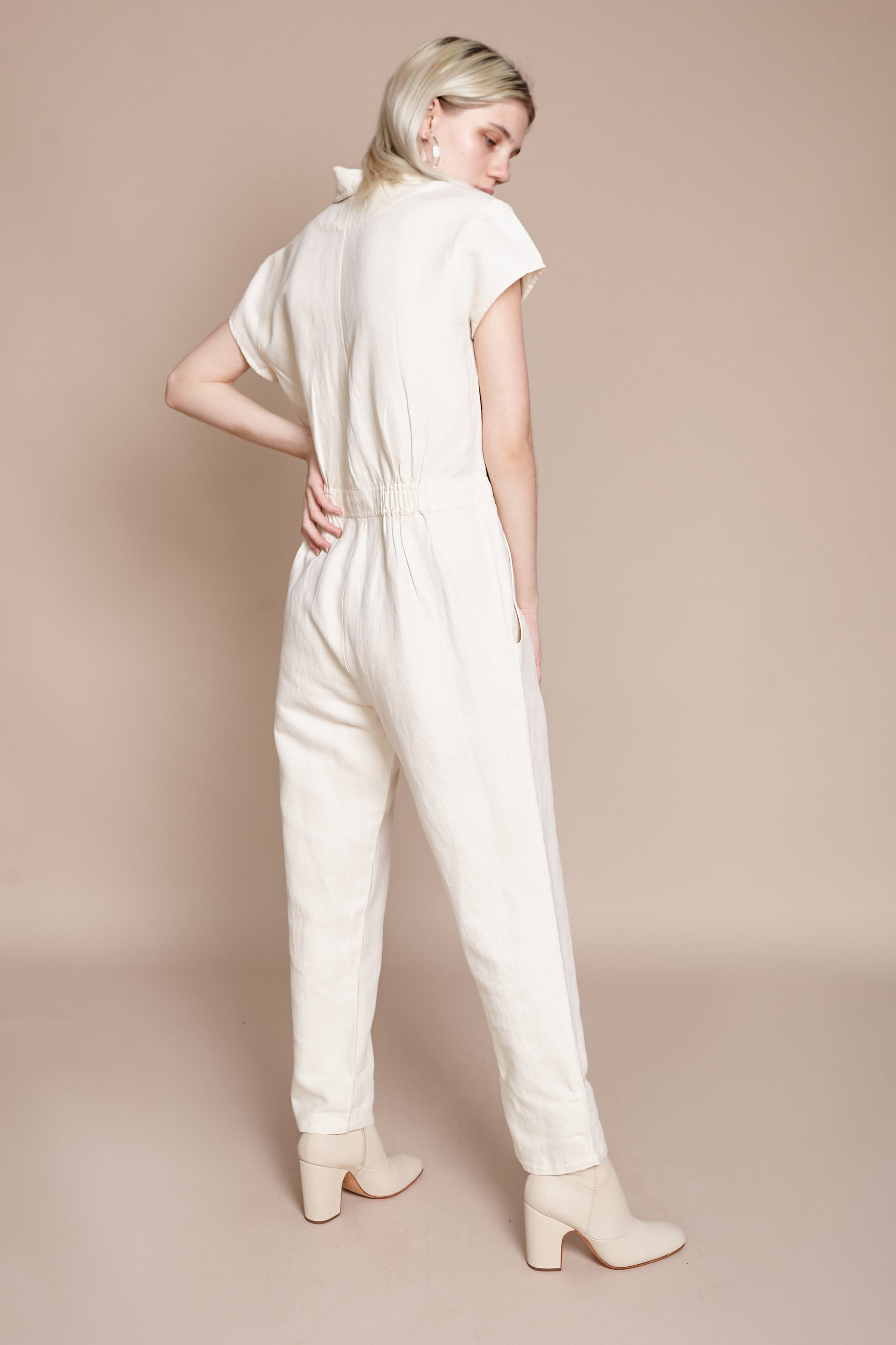 Apiece Apart Azore Jumpsuit in Cream - Vert & Vogue