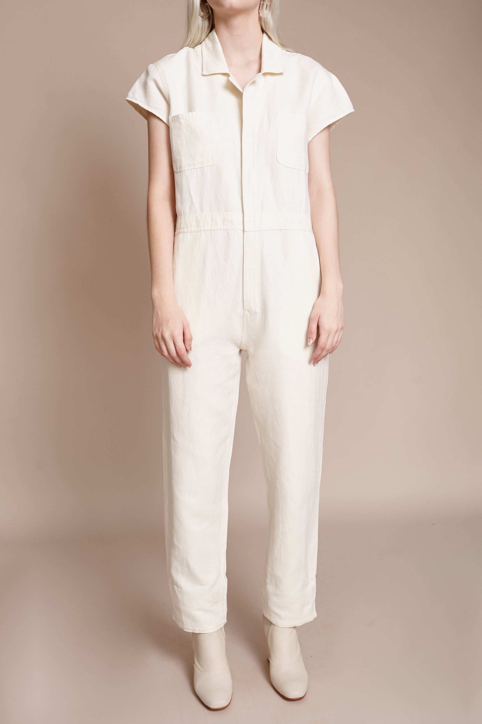 Azore Jumpsuit in Cream