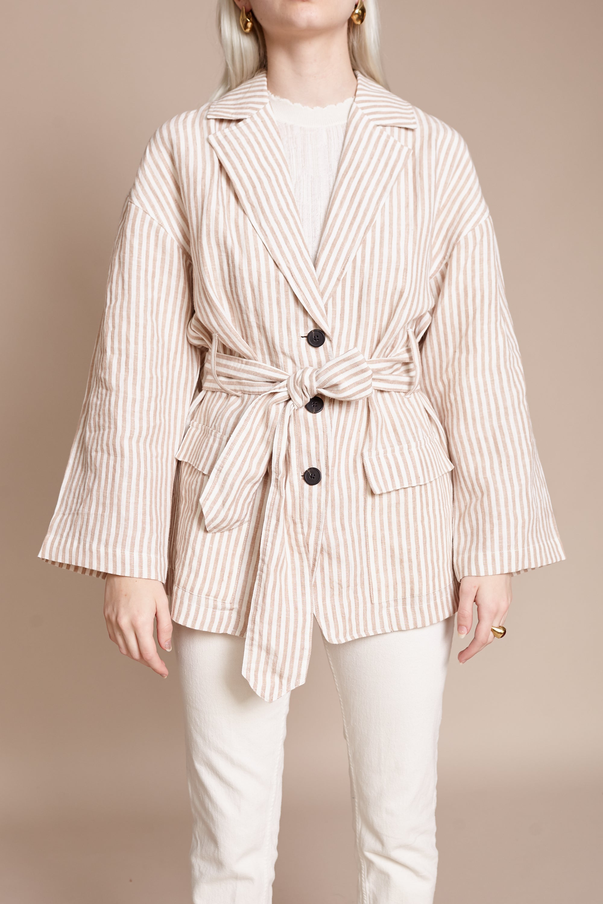Atticus Jacket in Cream Camel