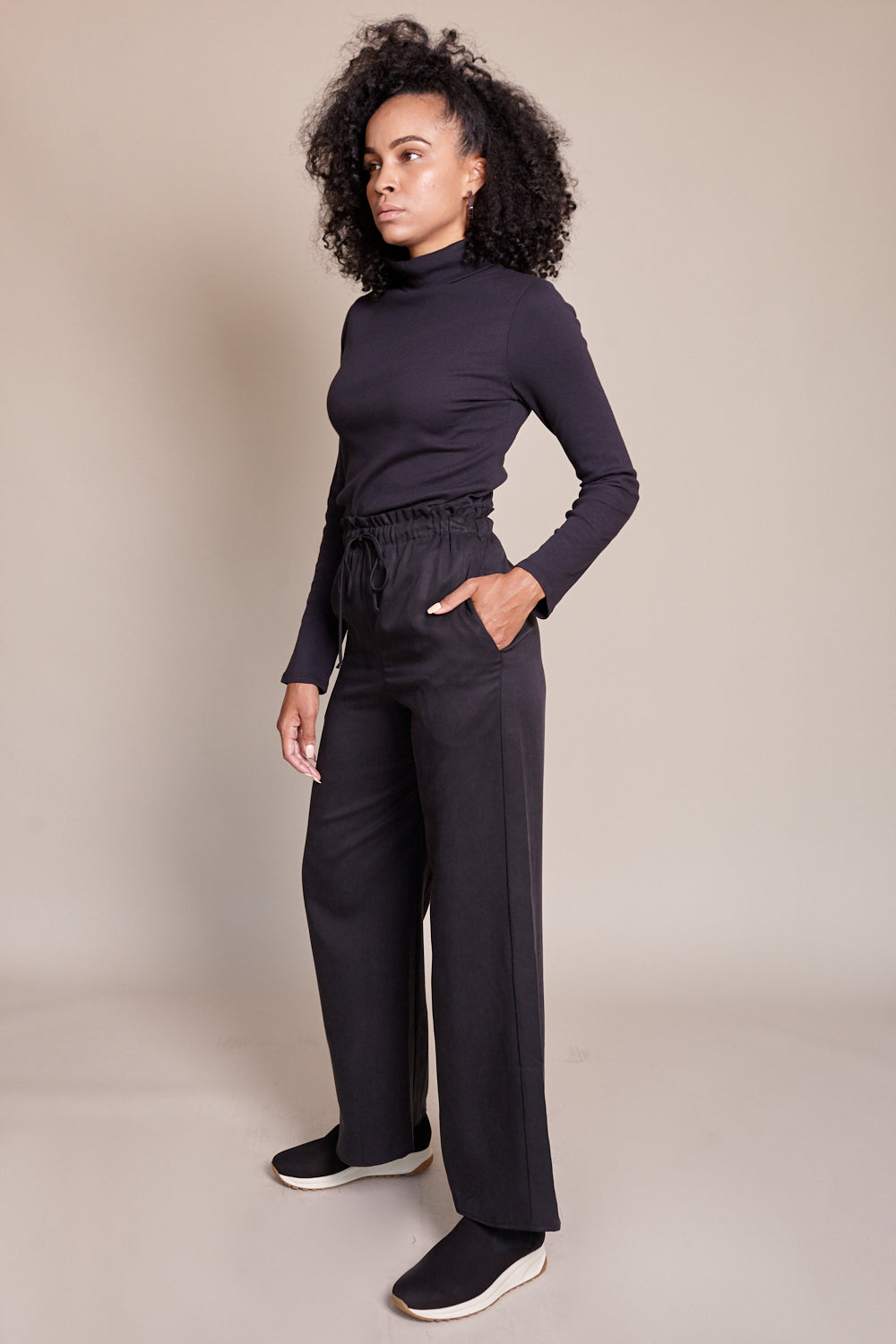 Shaina Mote Classic Turtleneck in Onyx - Vert & Vogue