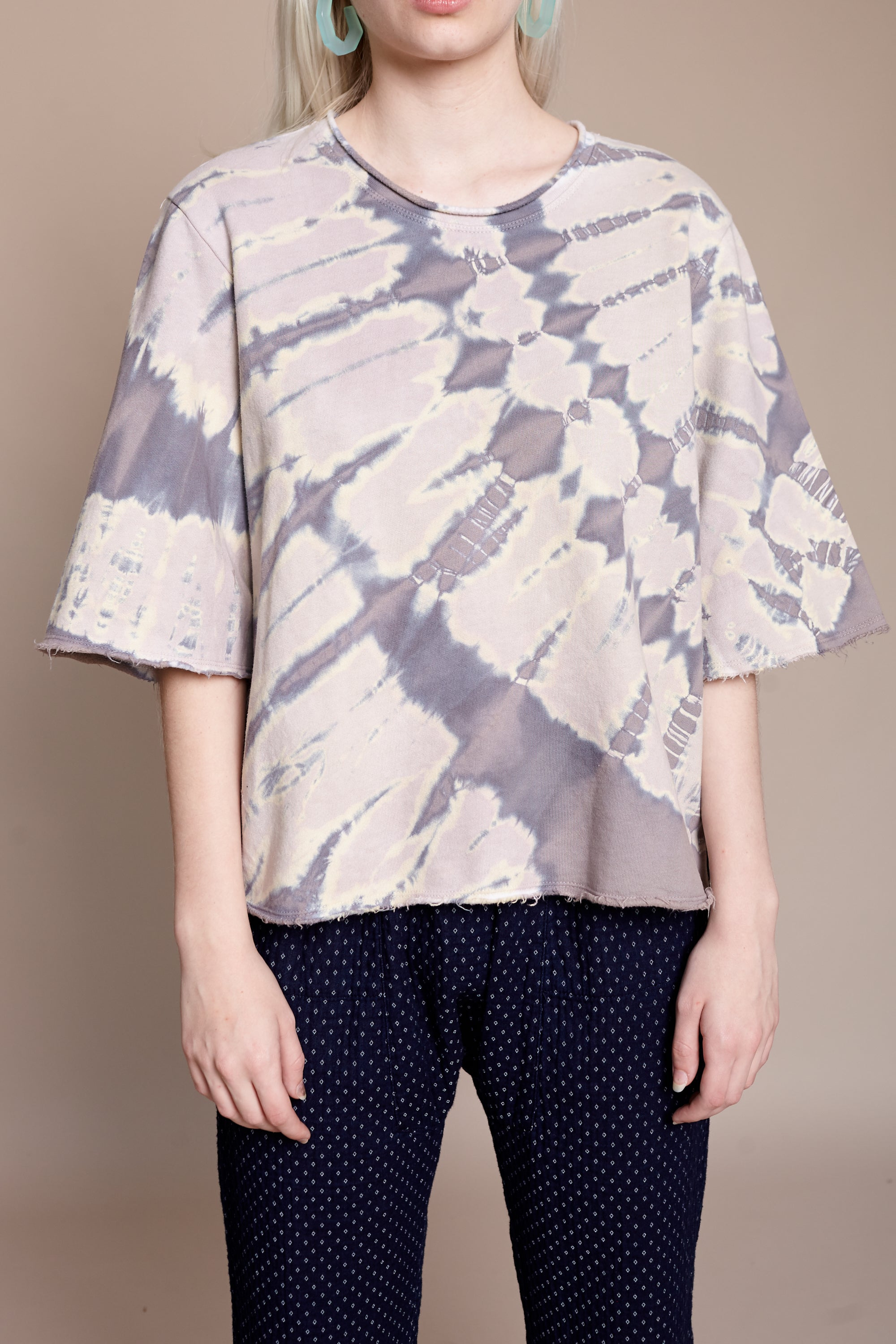 Silk Binding Sweatshirt in Blue Agate