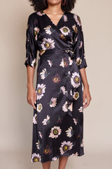 Georgia Wrap Dress in Autumn Daisy