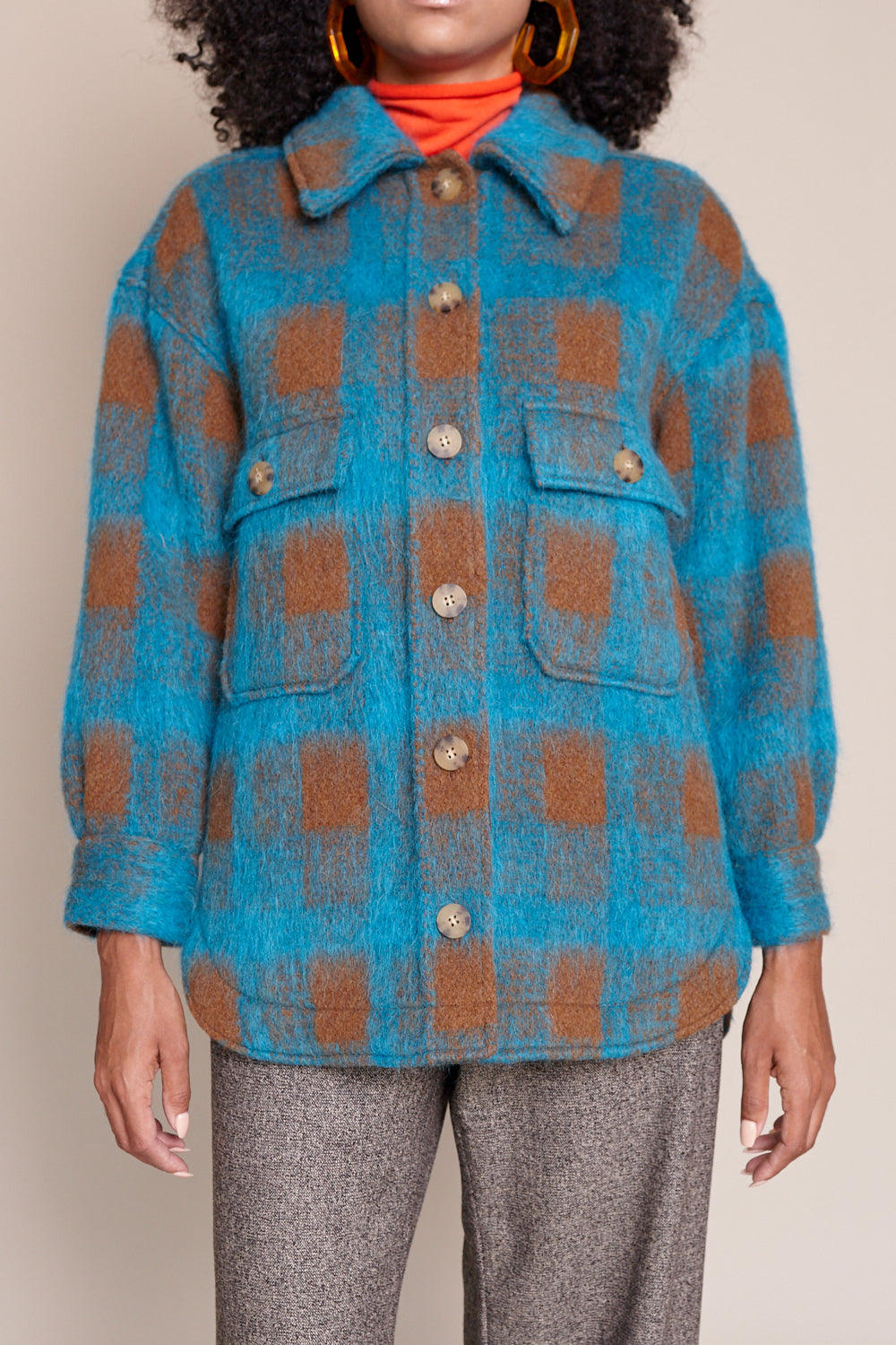 Wilson Jacket in Turquoise Plaid