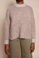Classic Crewneck Sweater in Taupe