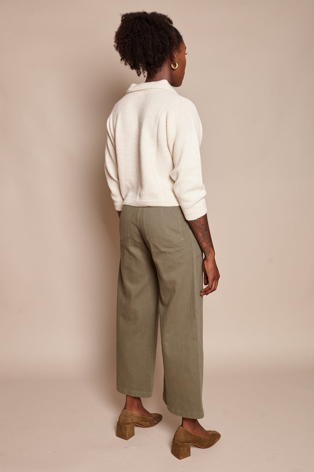First Rite Cargo Trouser in Olive - Vert & Vogue