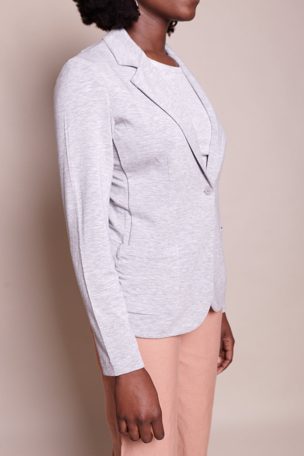French Terry Blazer in Gris Chine Clair