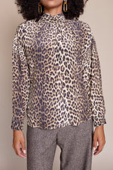 No.6 Callum Top in Leopard - Vert & Vogue