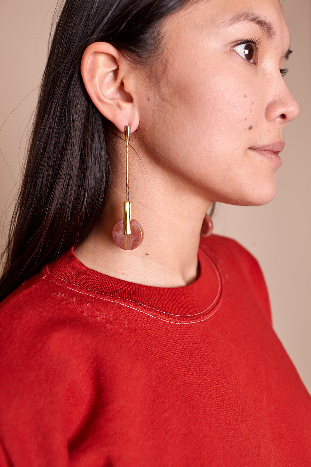 Nix Earrings in Pink Gold