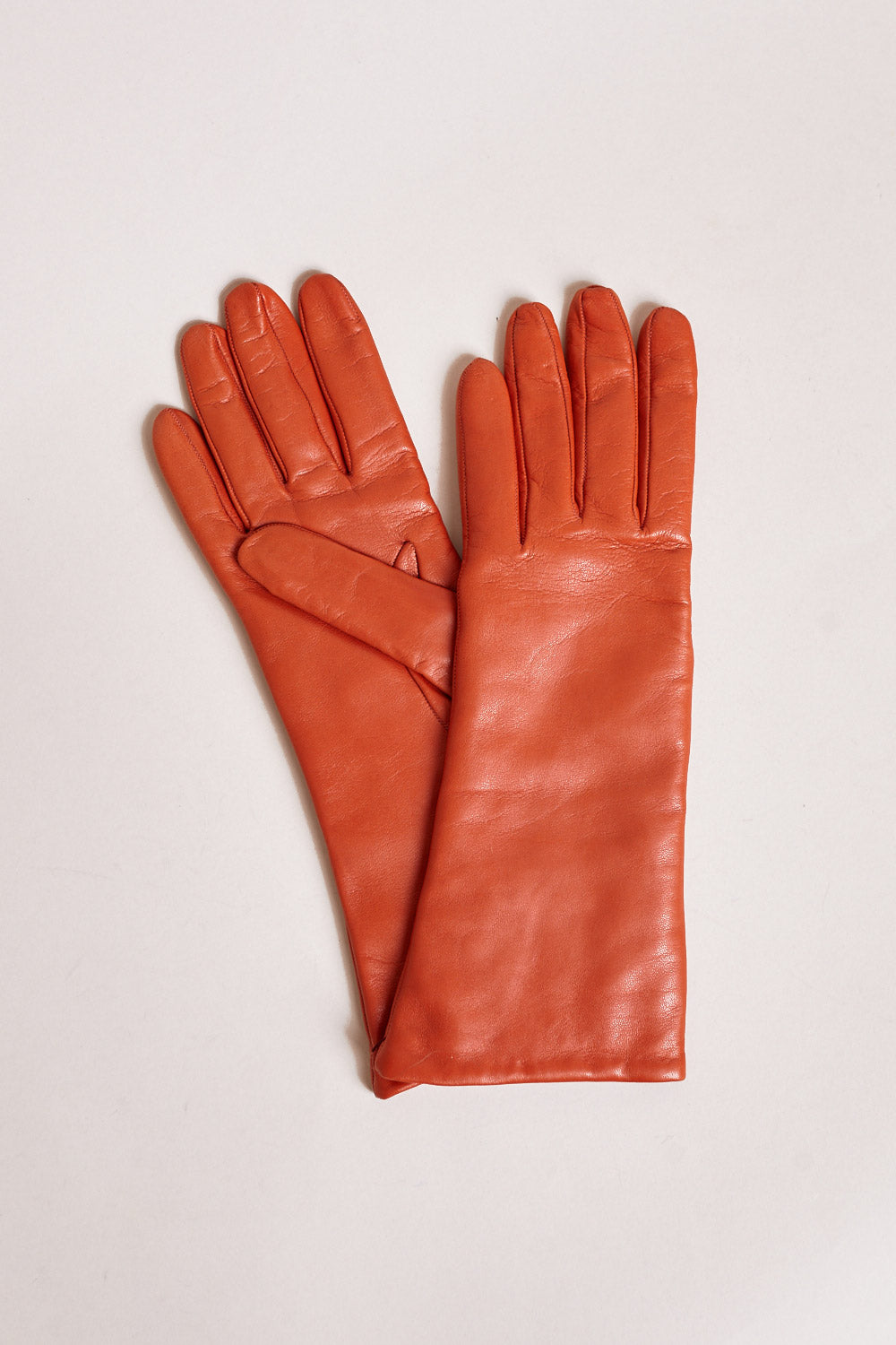 Lambskin Gloves in Burnt Orange