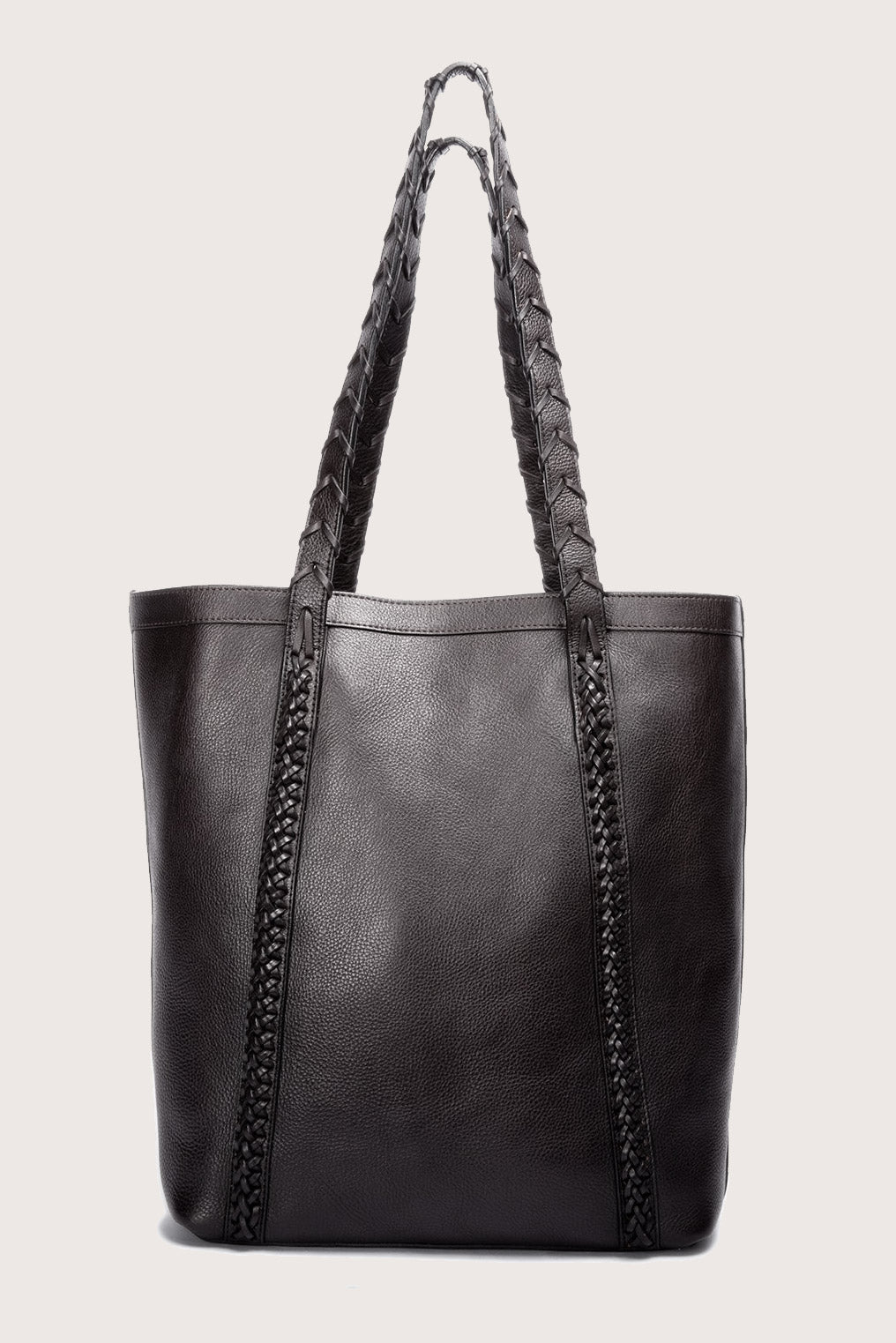 Braided Angle Tote in Black
