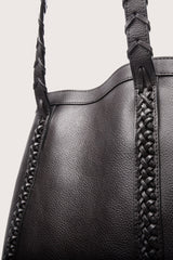 Lotuff Leather Braided Angle Tote in Black - Vert & Vogue