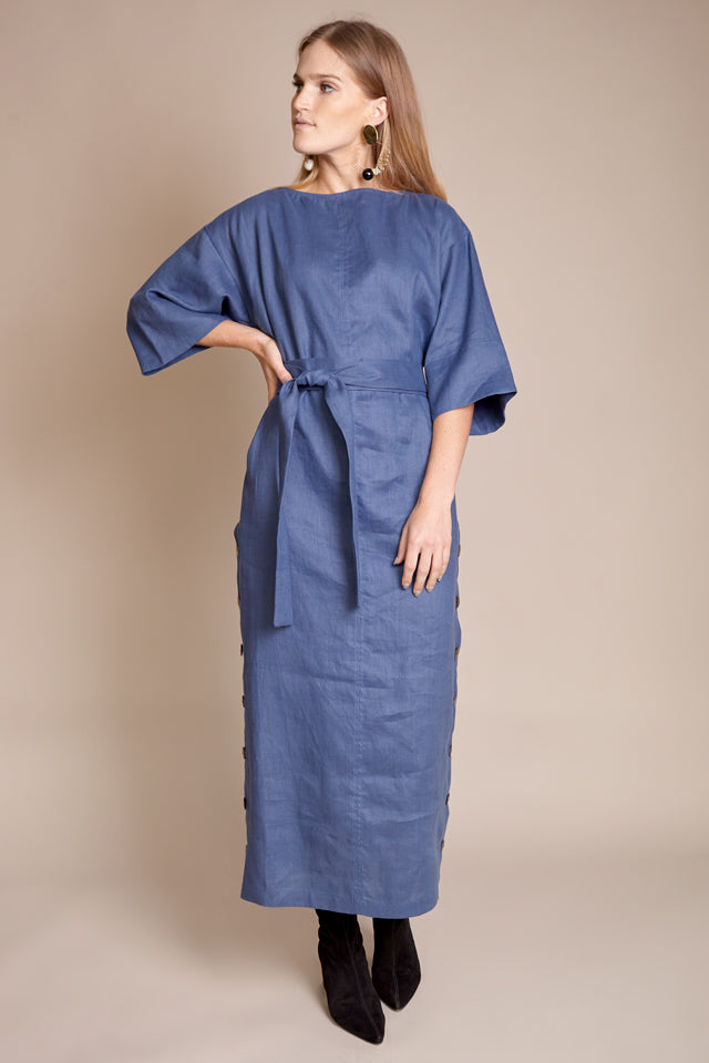 Akello Dress in Dark Blue
