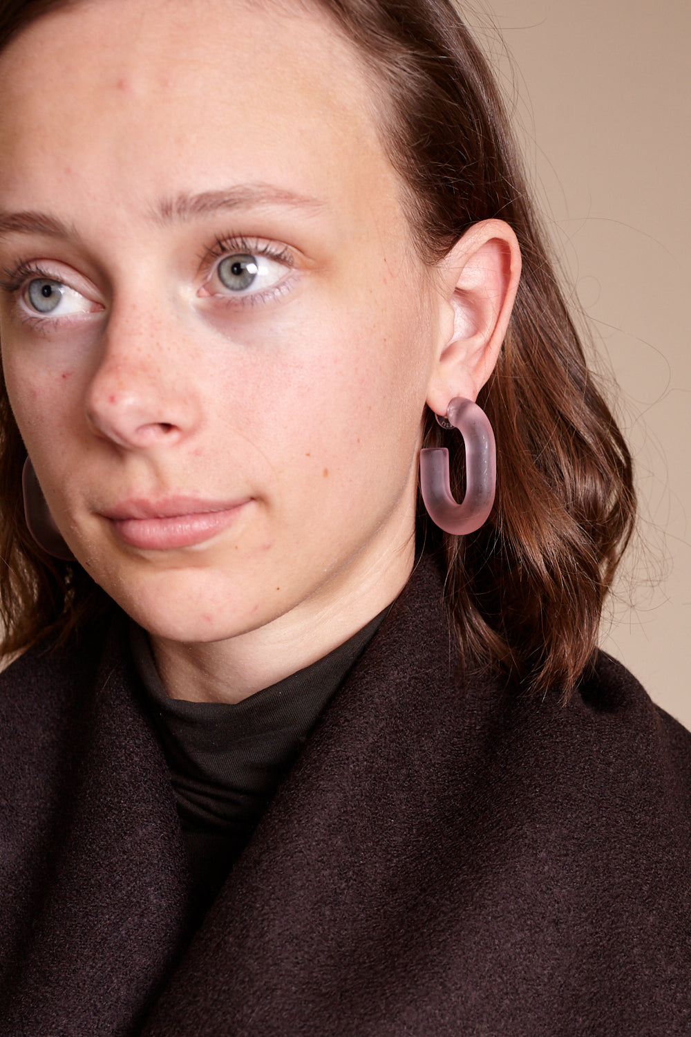 Small Keeper Earring in Light Pink