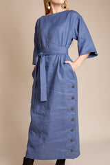 Mara Hoffman Akello Dress in Dark Blue - Vert & Vogue