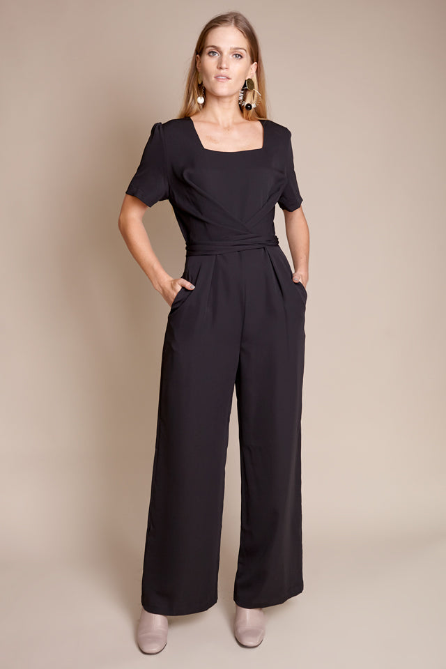 Carmel Jumpsuit in Onyx