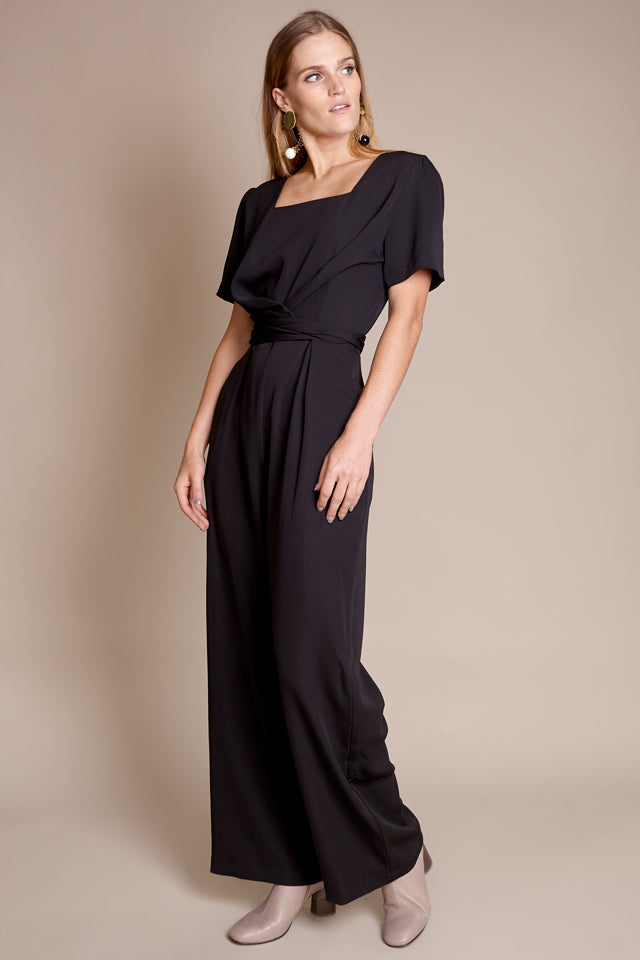 Shaina Mote Carmel Jumpsuit in Onyx - Vert & Vogue