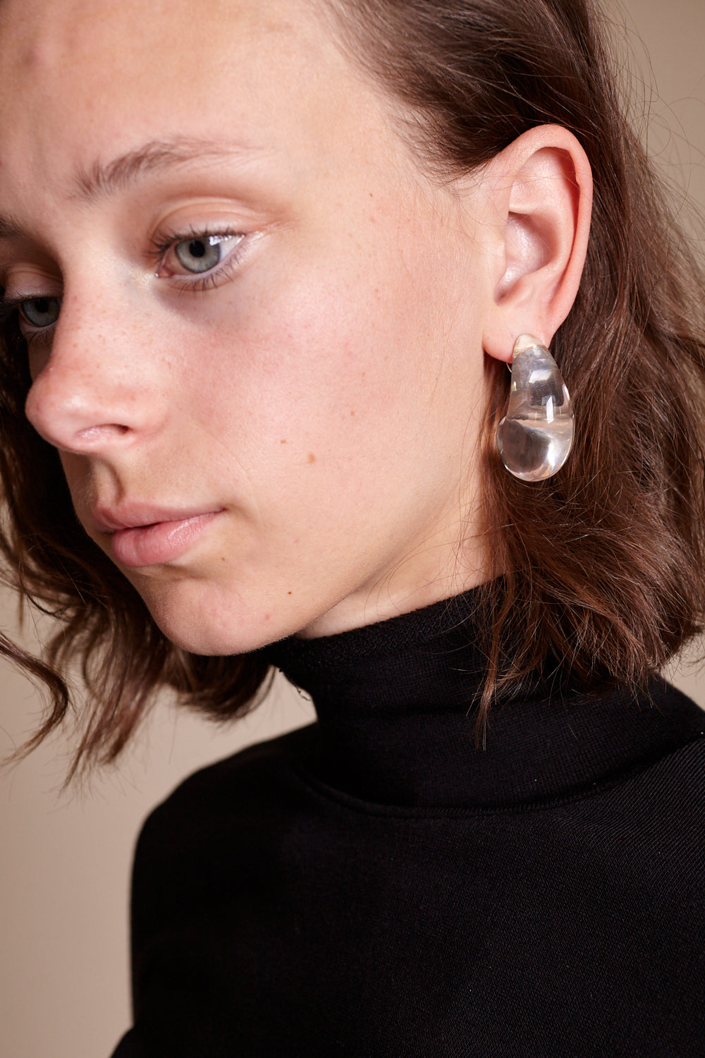 Arp Earrings in Clear