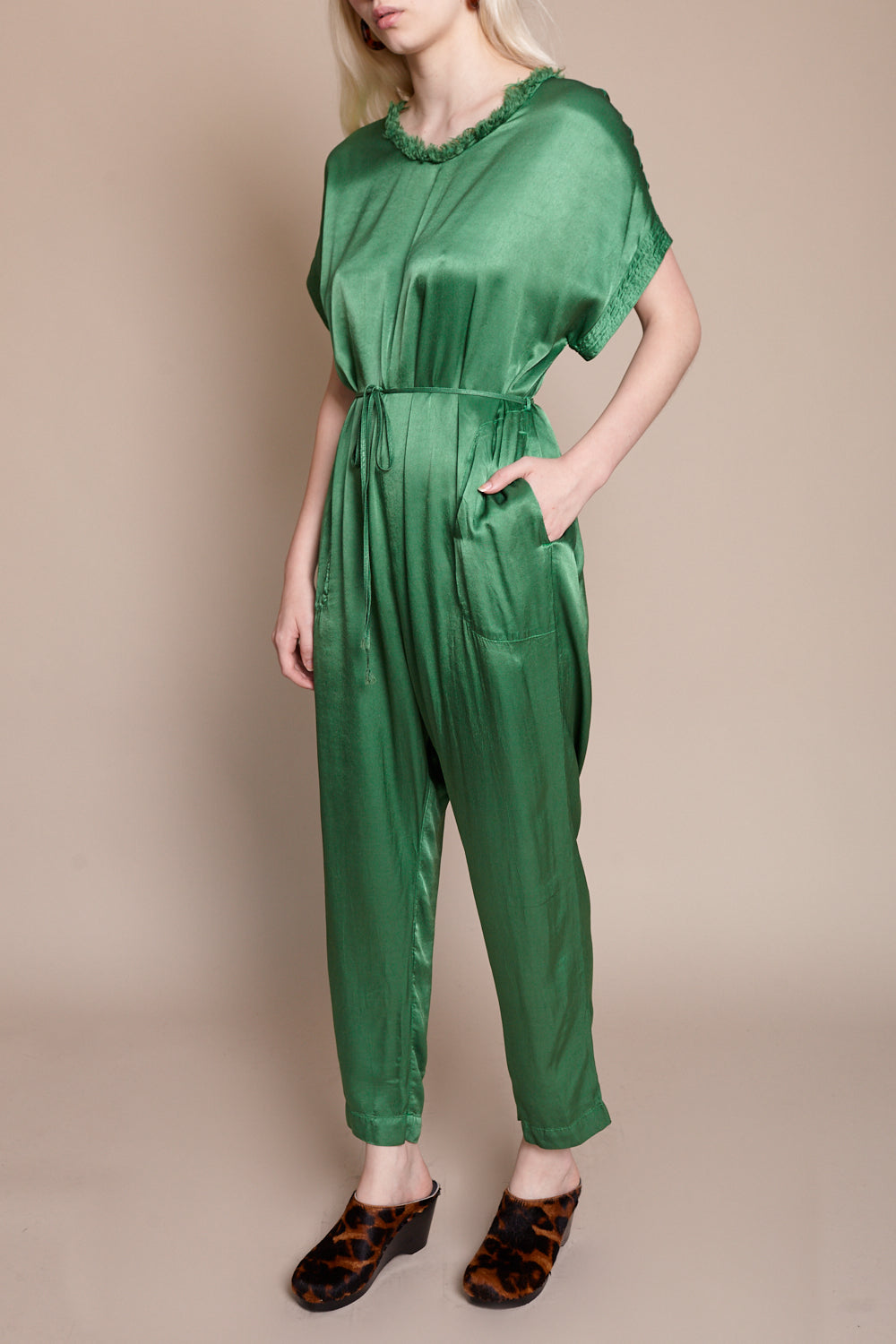 Raquel Allegra Jumper in Jade - Vert & Vogue
