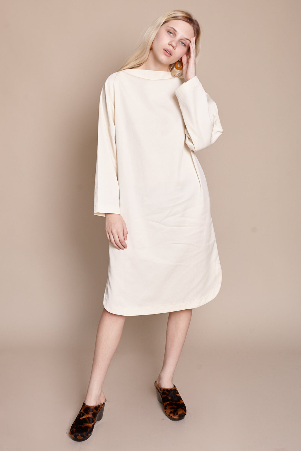 Folded Neck Dress