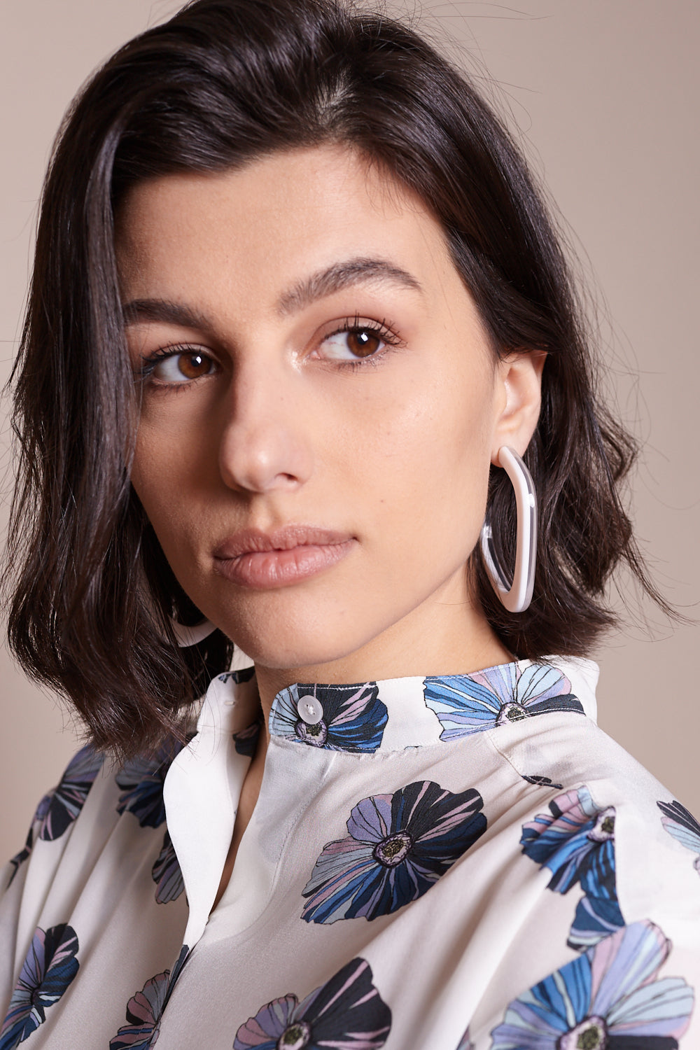 Rachel Comey Chilla Earrings in Clear White - Vert & Vogue