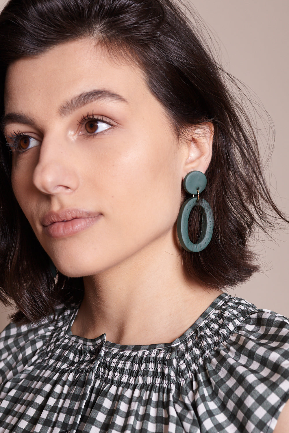 Jemma Earrings in Green Perf