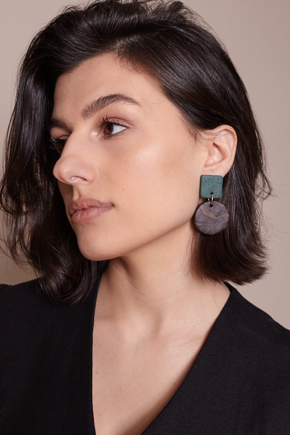 Max Earrings in Green