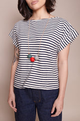 The Everyday Necklace With Red Pop
