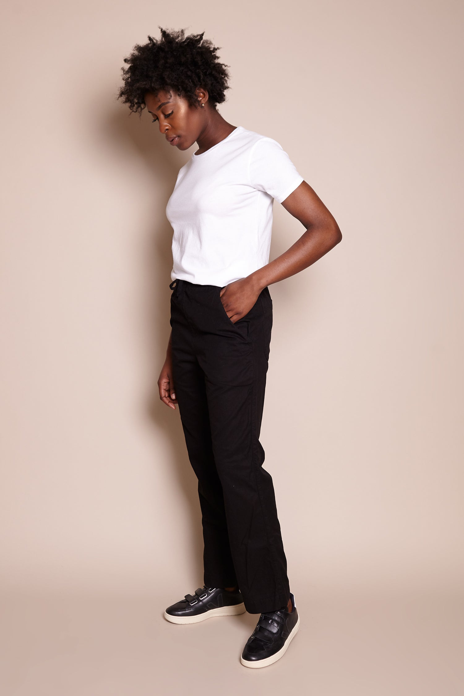 Save Khaki United Comfort Chino in Black - Vert & Vogue