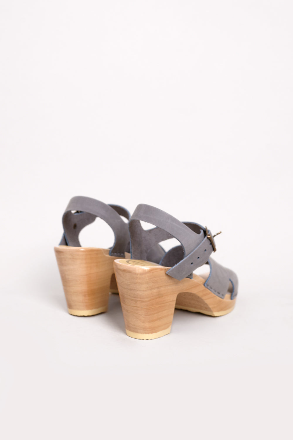 No.6 Coco Cross Sandal in Alaska on High Heel - Vert & Vogue