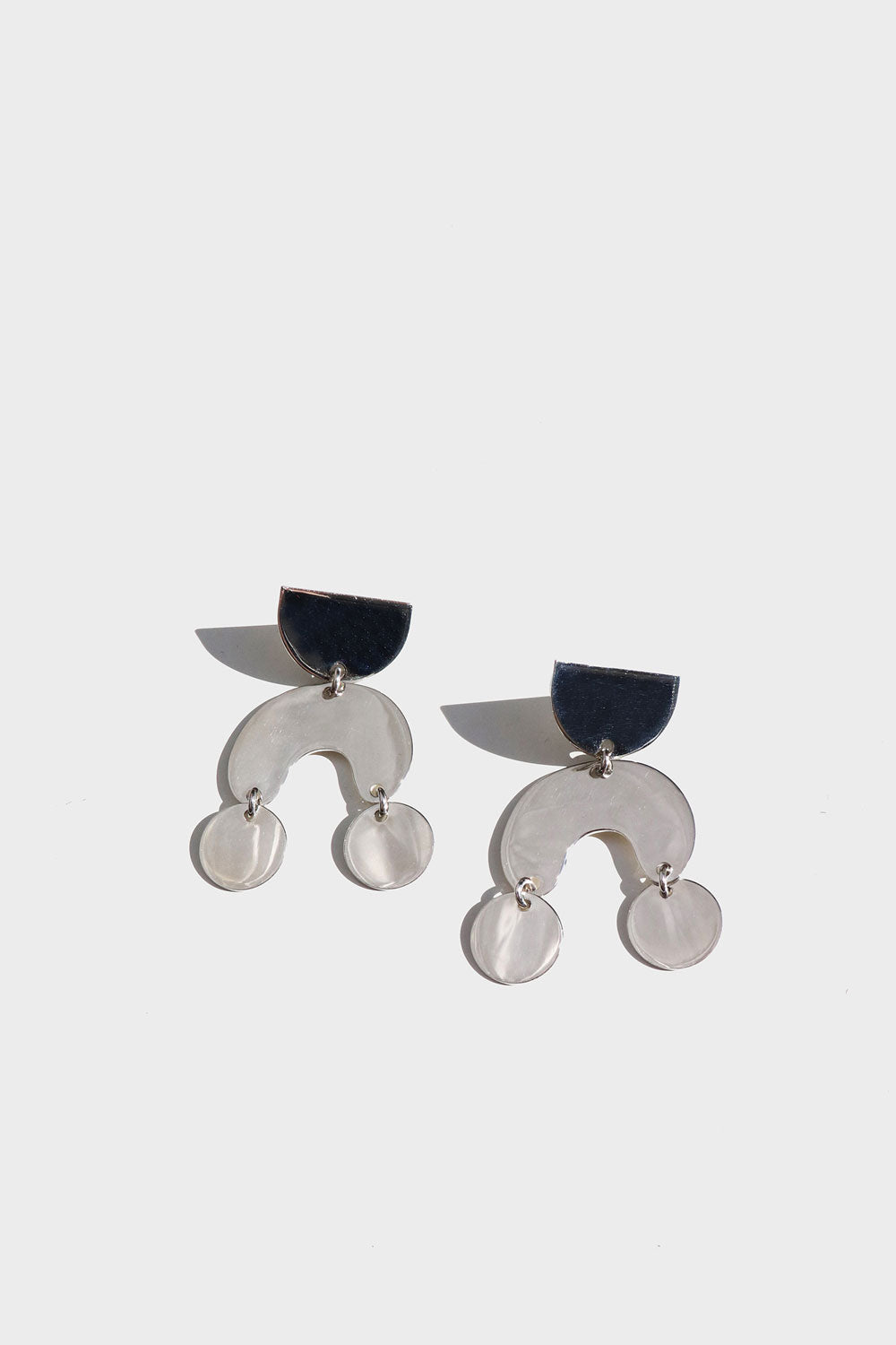 Modern Weaving Mini Moondancer Earrings in Sterling Silver - Vert & Vogue