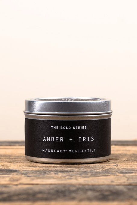 Amber and Iris Travel Candle