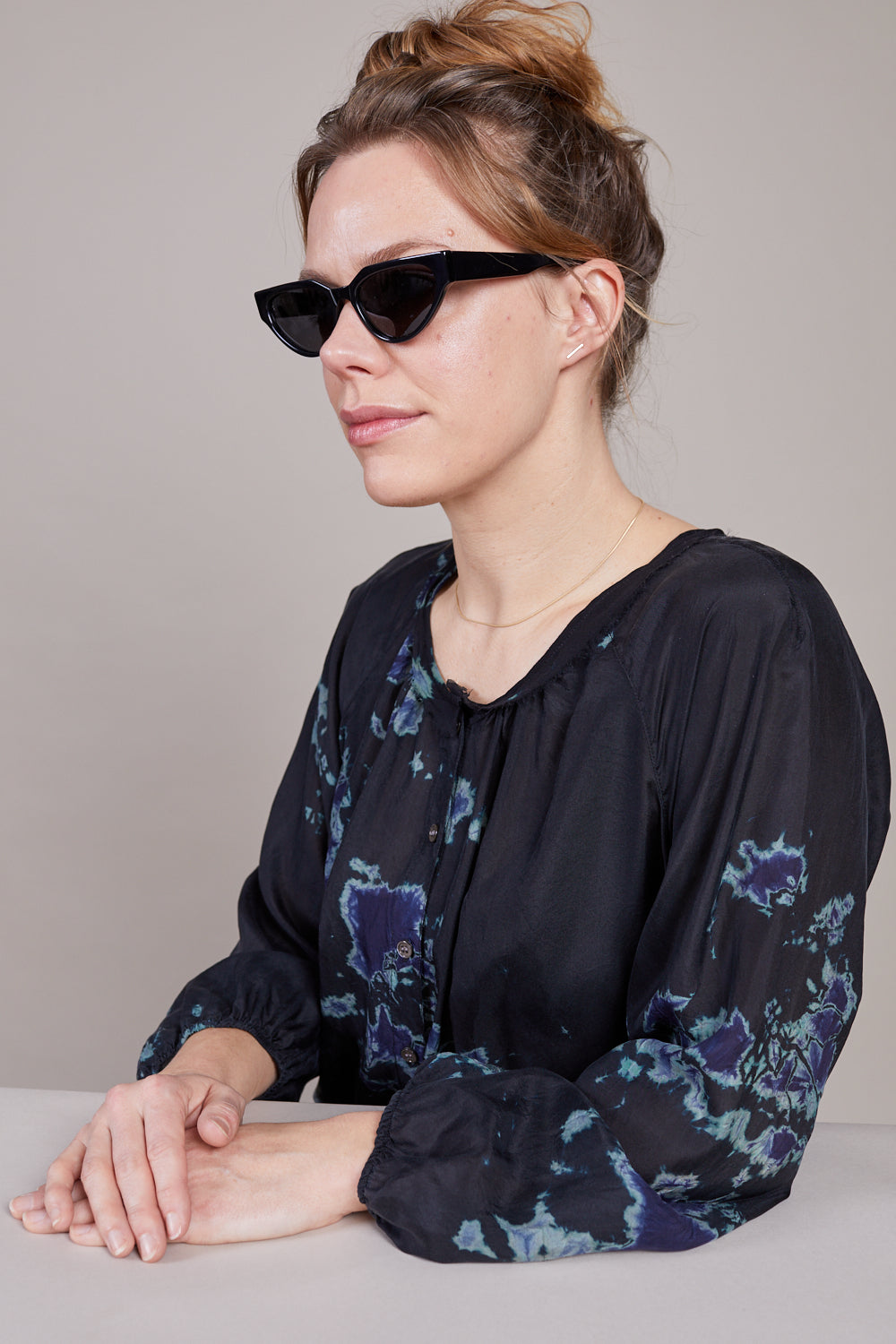 Acie Sunglasses in Crystal Black
