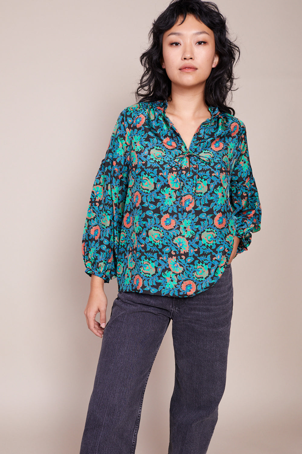 Betina Blouse in Avingnon Floral