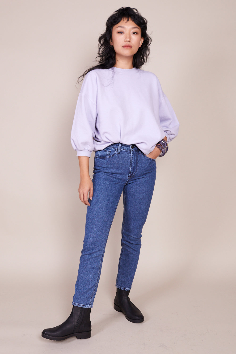 Colette Slim Crop Jean in Hester