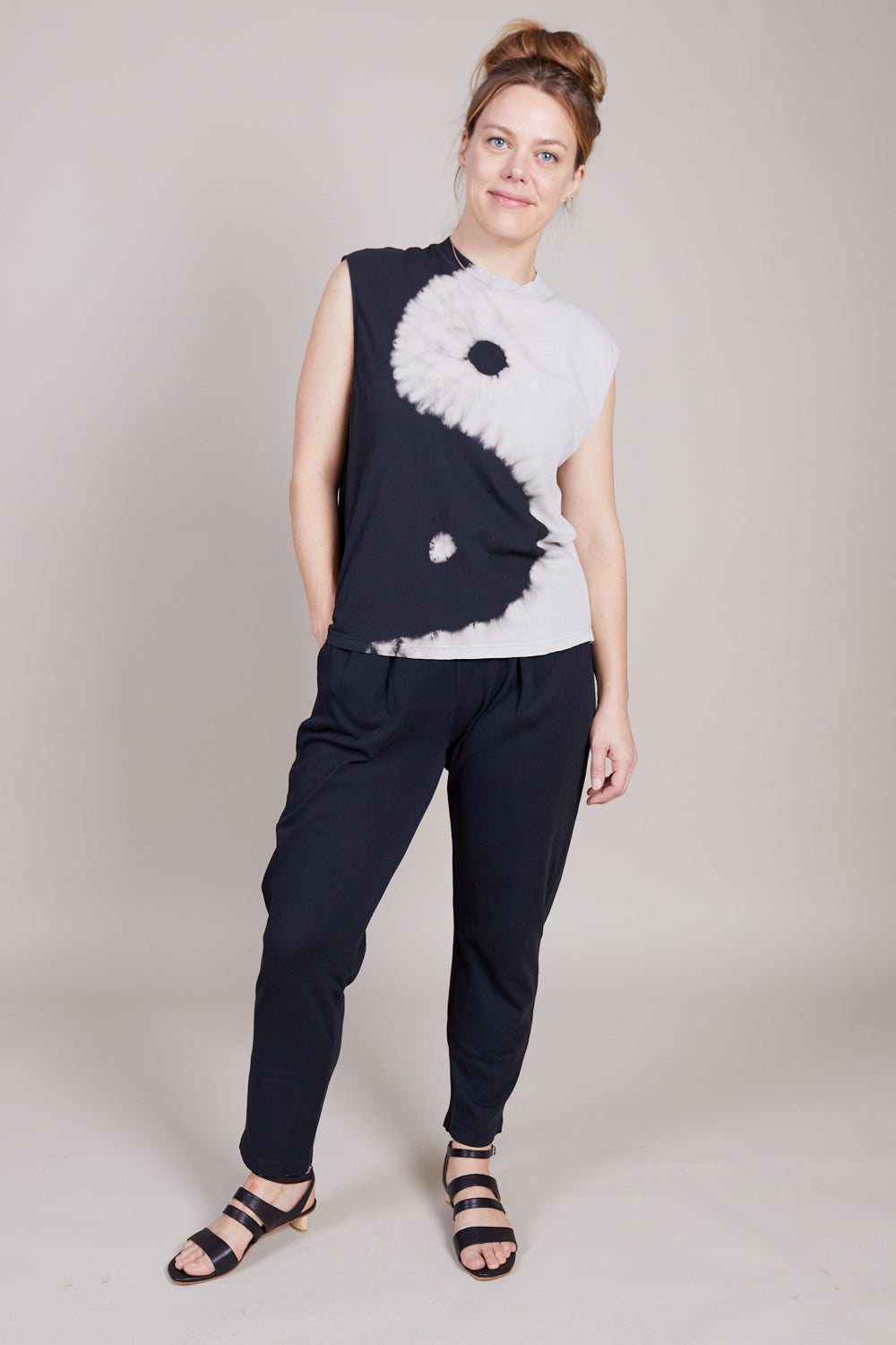Moc Muscle Tee in Black and White Yin Yang