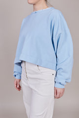 Rachel Comey Mingle Sweatshirt in Sky Blue - Vert & Vogue