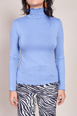 No.6 Rumi Turtleneck in Sky Blue - Vert & Vogue