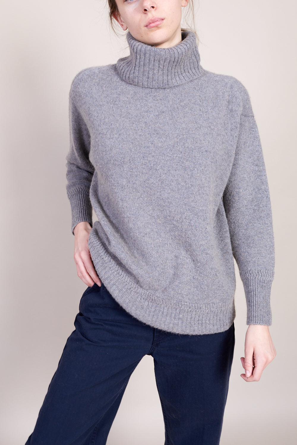 Turtleneck Pullover in Grey