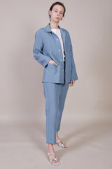 Blluemade Chore Coat in Steel Blue - Vert & Vogue