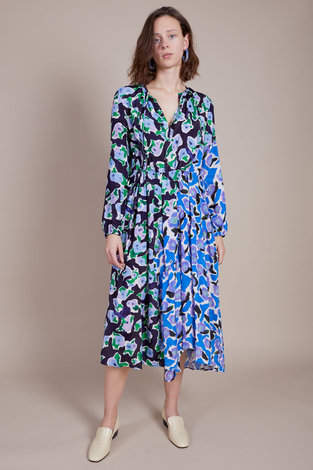 Danica Dress in Magnolia Patchwork