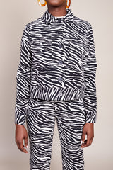 No.6 Claudia Jacket in Black and White Zebra - Vert & Vogue