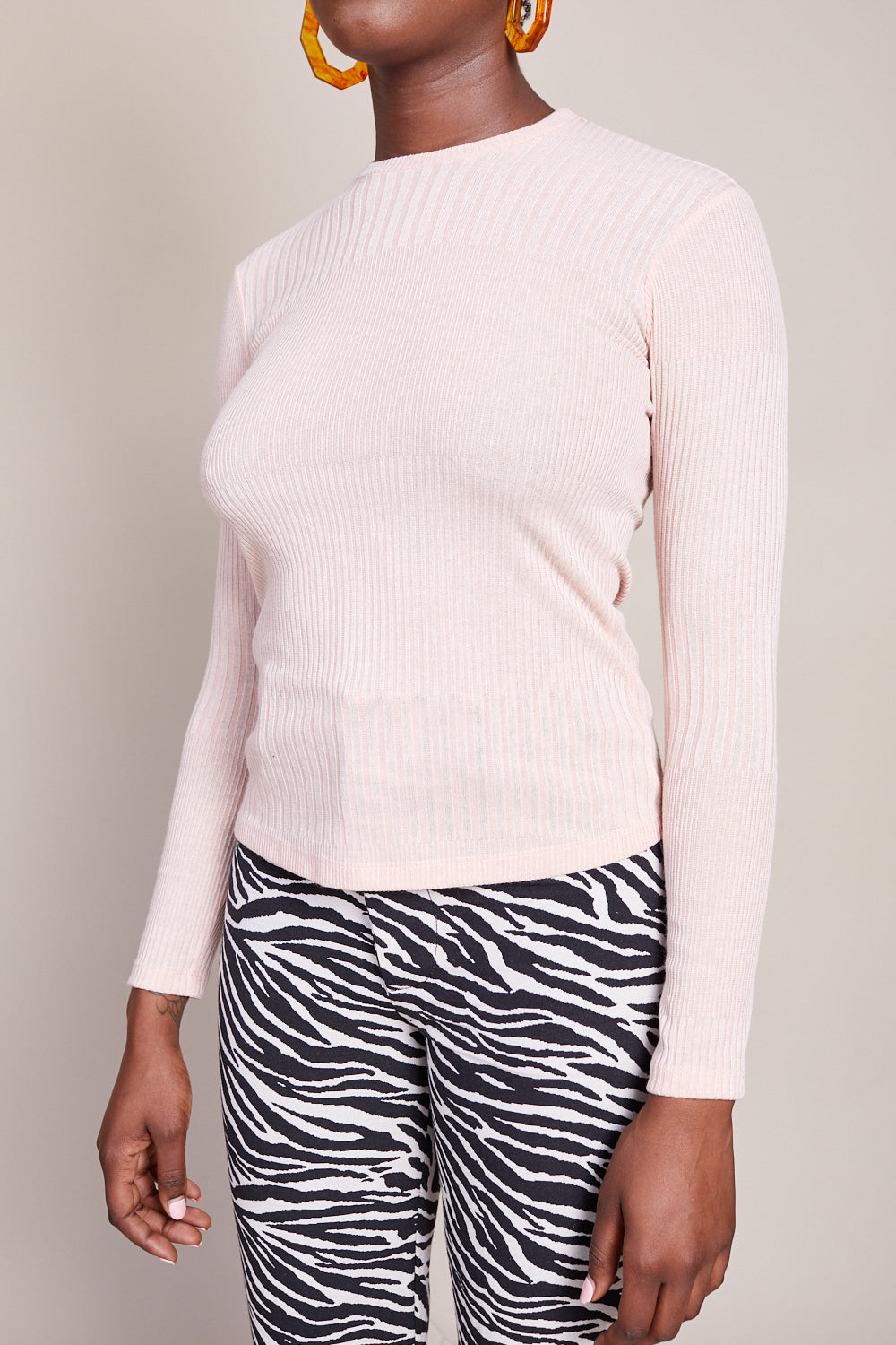 No.6 Stellan Crewneck Knit Top in Blush - Vert & Vogue