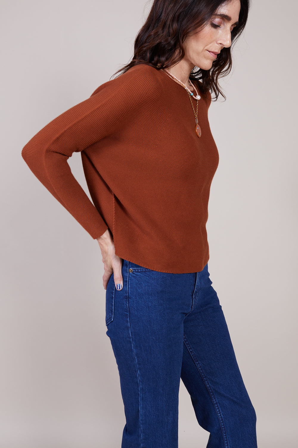 Kain Long Sleeve Shirt in Chestnut