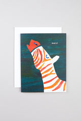Cat Call Collective Zebra Merci Card - Vert & Vogue