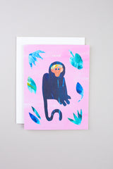 Cat Call Collective Monkey Sante Card - Vert & Vogue