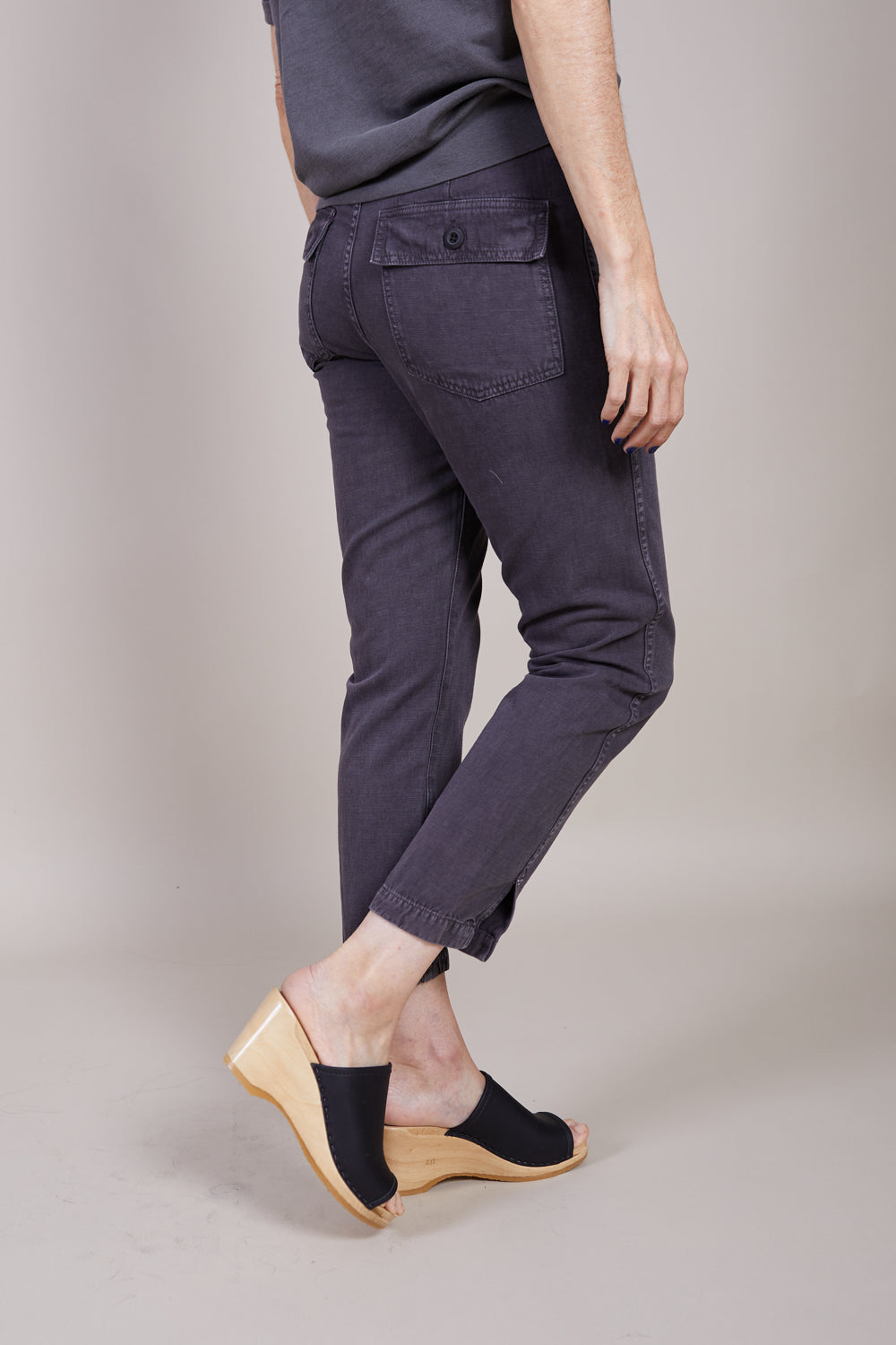 Amo Denim Army Twist in Washed Black - Vert & Vogue