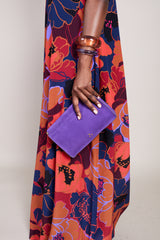 Jerome Dreyfuss Clic Clac Large Clutch in Violet - Vert & Vogue
