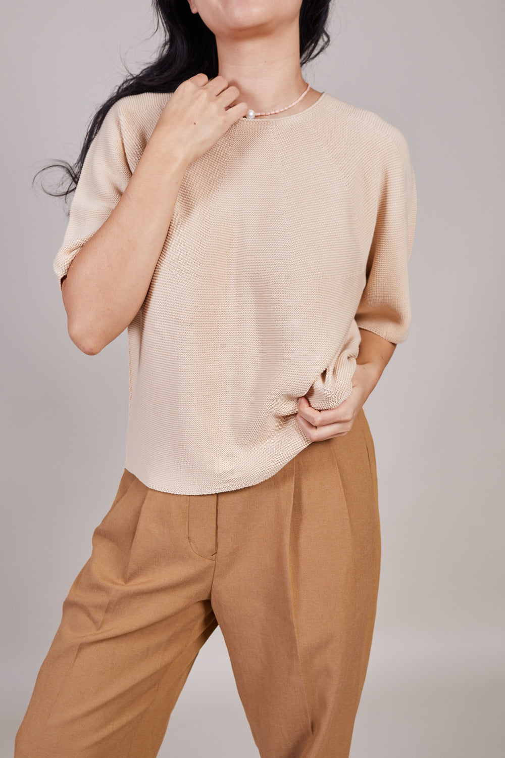 Koda Blouse in Beige