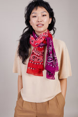 Destin Bandana in Pink/Purple/Red - Vert & Vogue