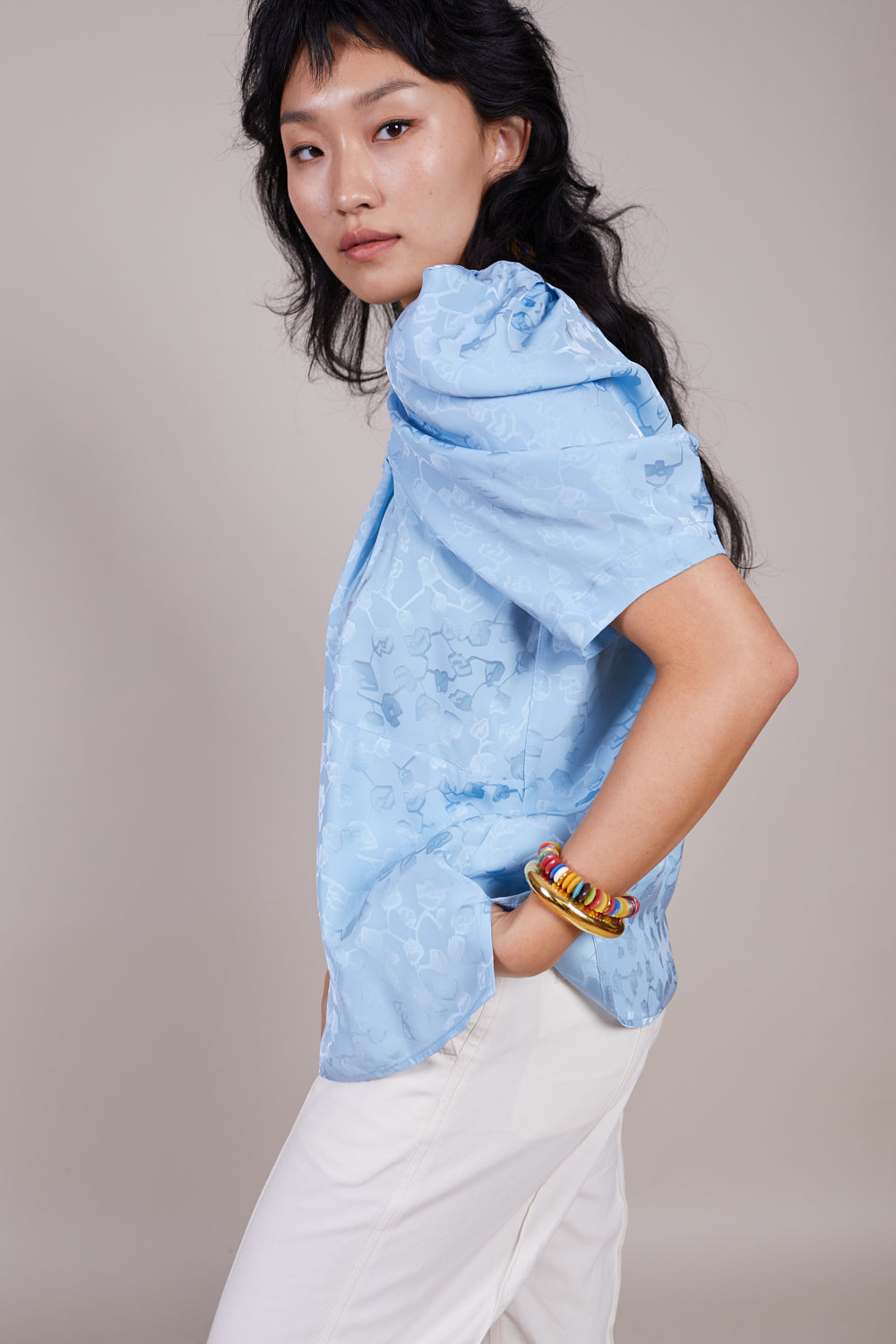 Capa Top in Sky Blue